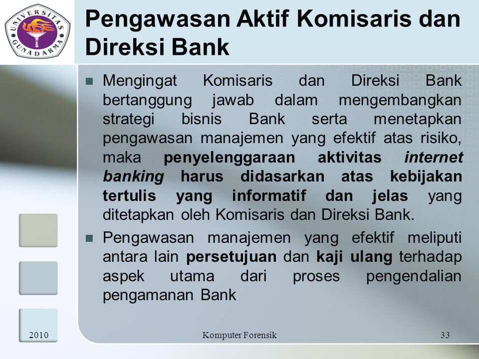 Pengawasan Aktif Komisaris dan Direksi Bank