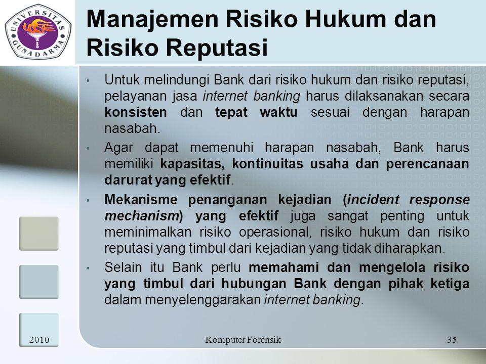 Manajemen Risiko Hukum dan Risiko Reputasi