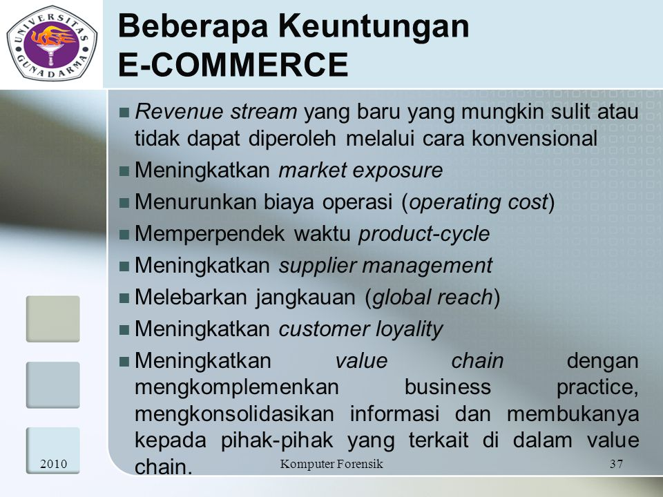 Beberapa Keuntungan E-COMMERCE