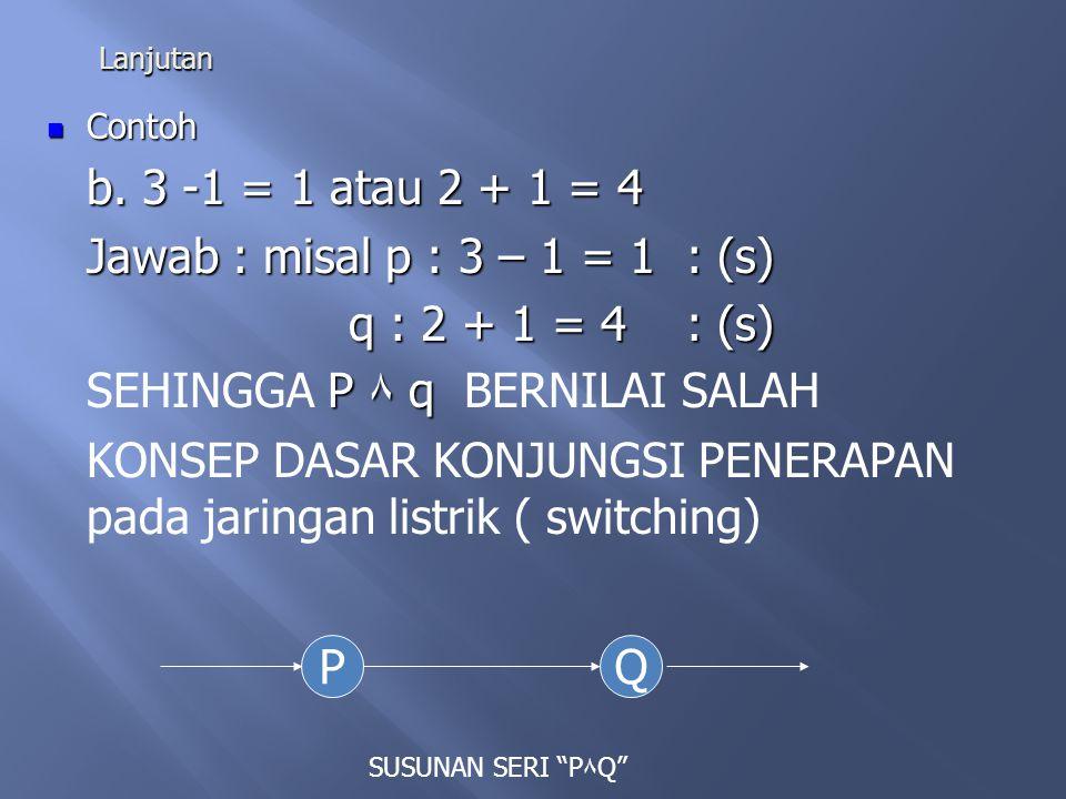SEHINGGA P ۸ q BERNILAI SALAH