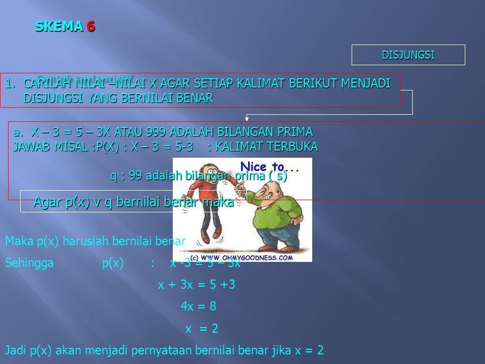 Agar p(x) v q bernilai benar maka