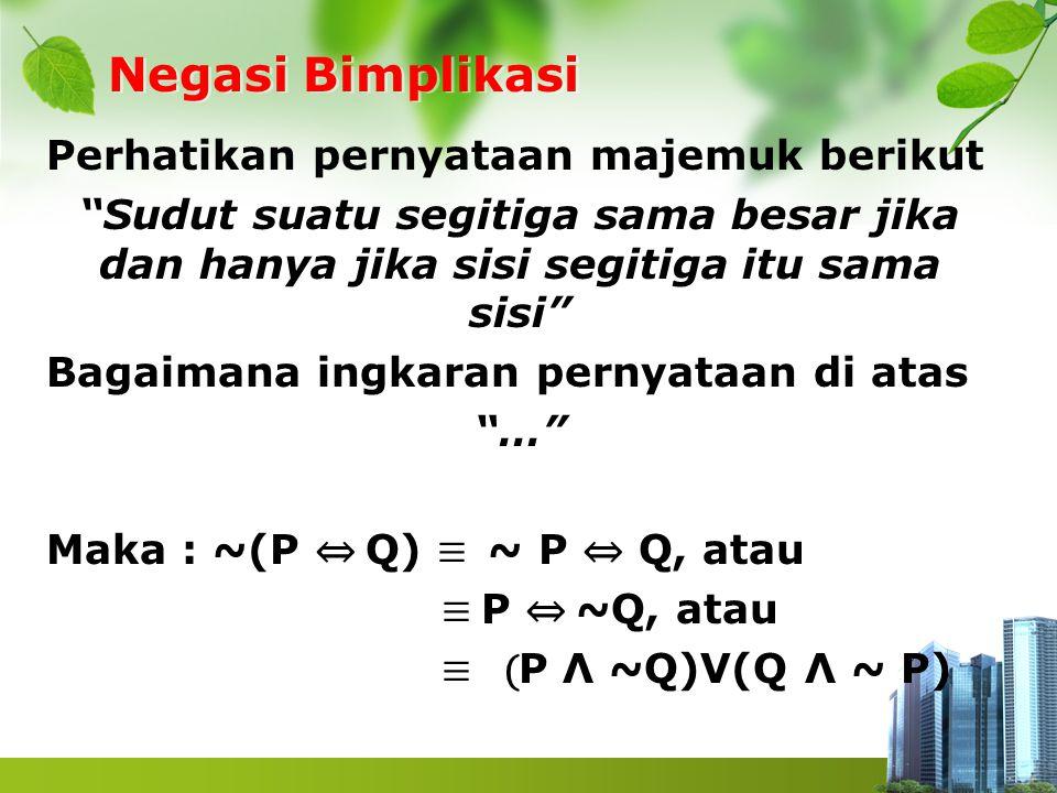 Negasi Bimplikasi