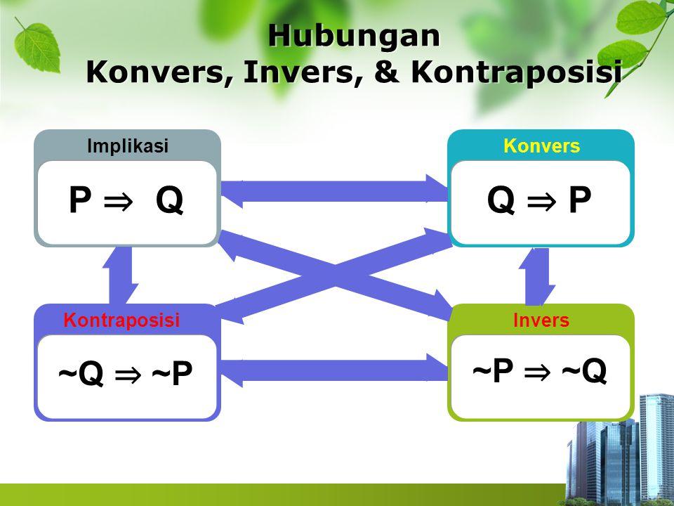 Hubungan Konvers, Invers, & Kontraposisi