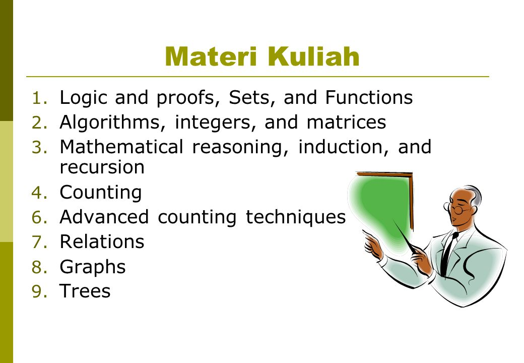 Materi Kuliah Logic and proofs, Sets, and Functions