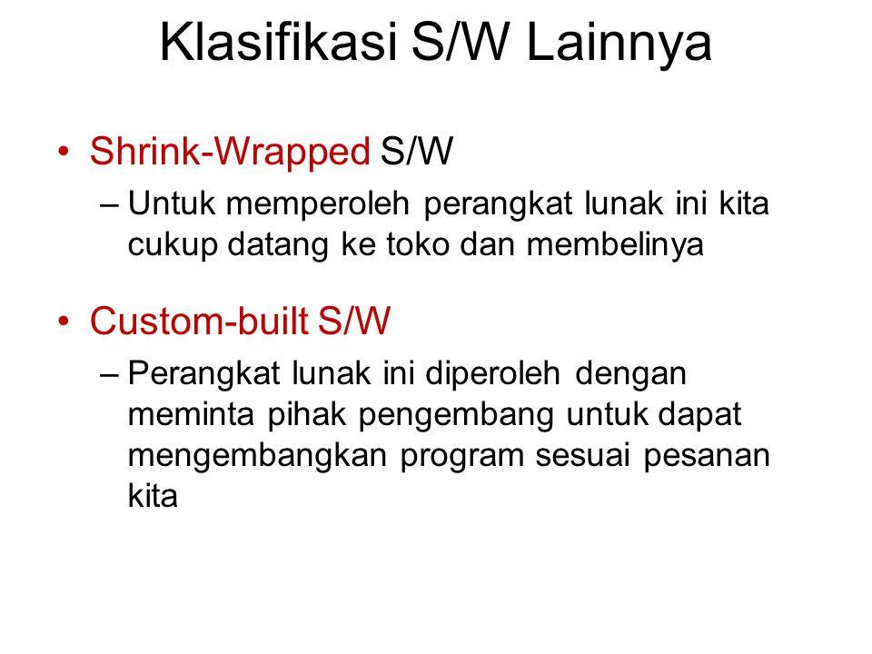 Klasifikasi S/W Lainnya