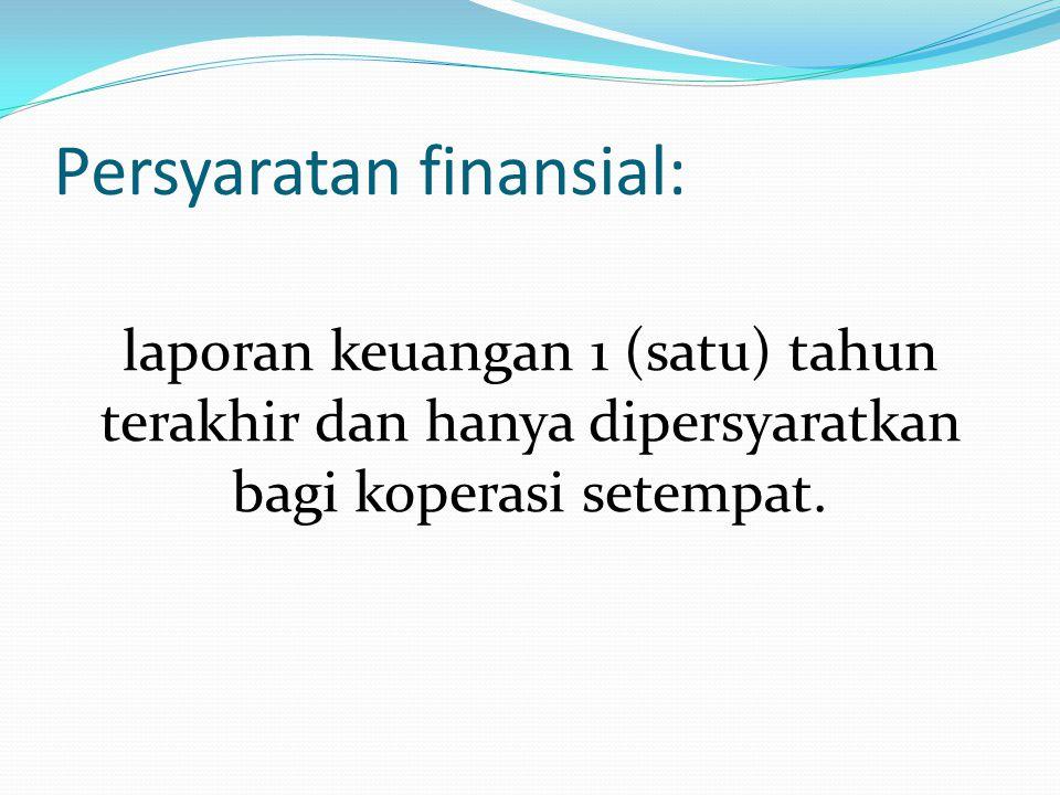 Persyaratan finansial: