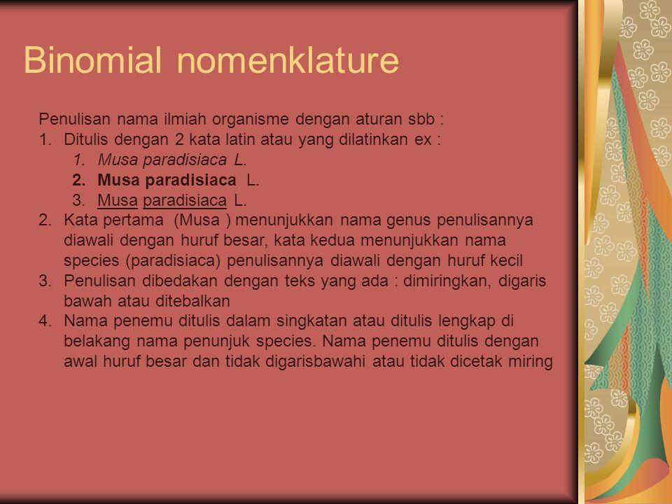 Binomial nomenklature