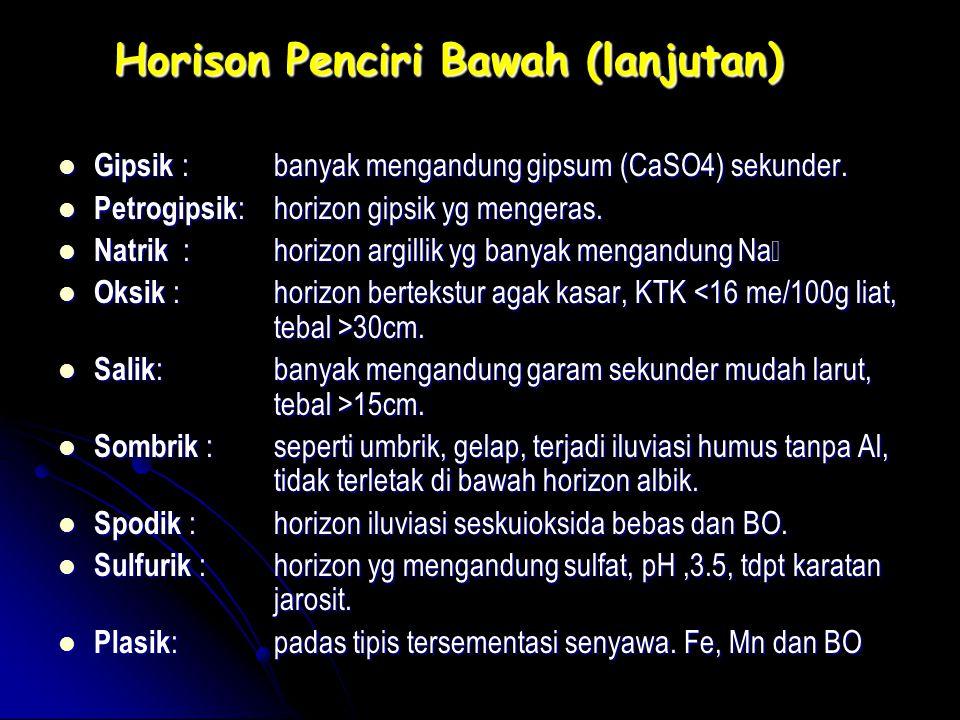 Horison Penciri Bawah (lanjutan)