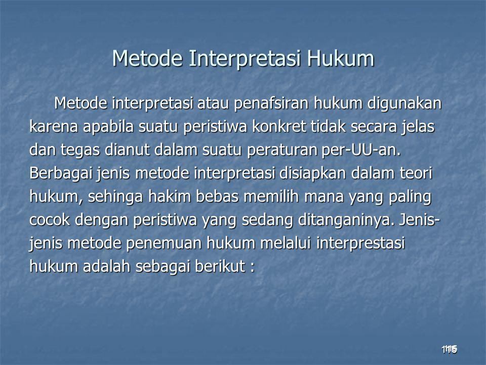 Metode Interpretasi Hukum