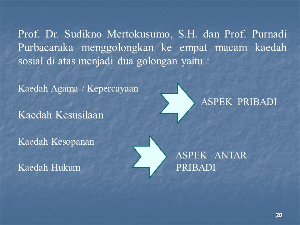 Prof. Dr. Sudikno Mertokusumo, S. H. dan Prof