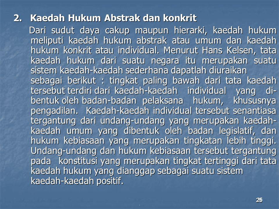 2. Kaedah Hukum Abstrak dan konkrit