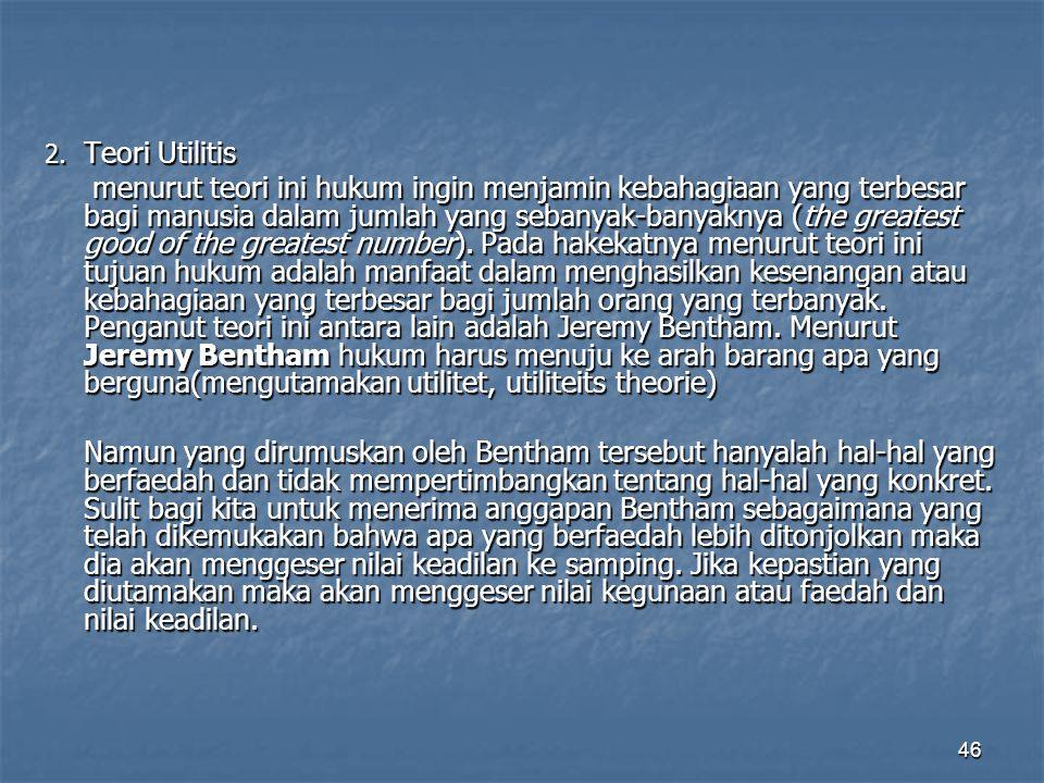 2. Teori Utilitis