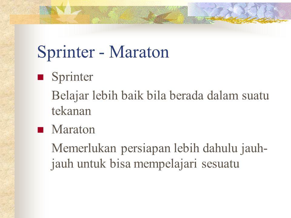 Sprinter - Maraton Sprinter