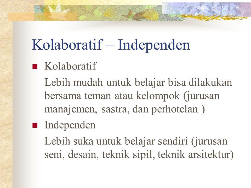 Kolaboratif – Independen