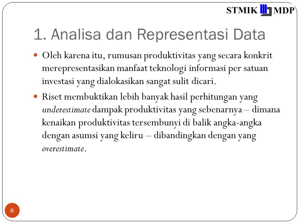 1. Analisa dan Representasi Data