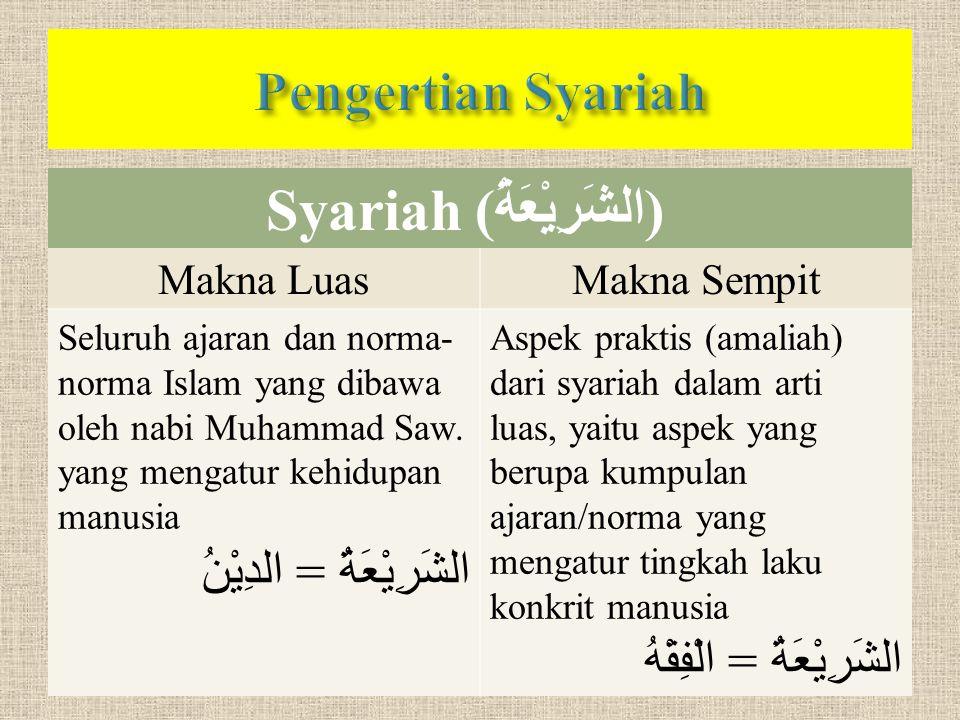 Syariah (الشَرِيْعَةُ)