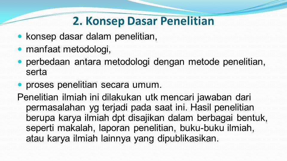 2. Konsep Dasar Penelitian