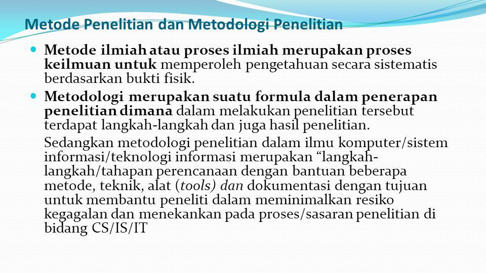 Metode Penelitian dan Metodologi Penelitian