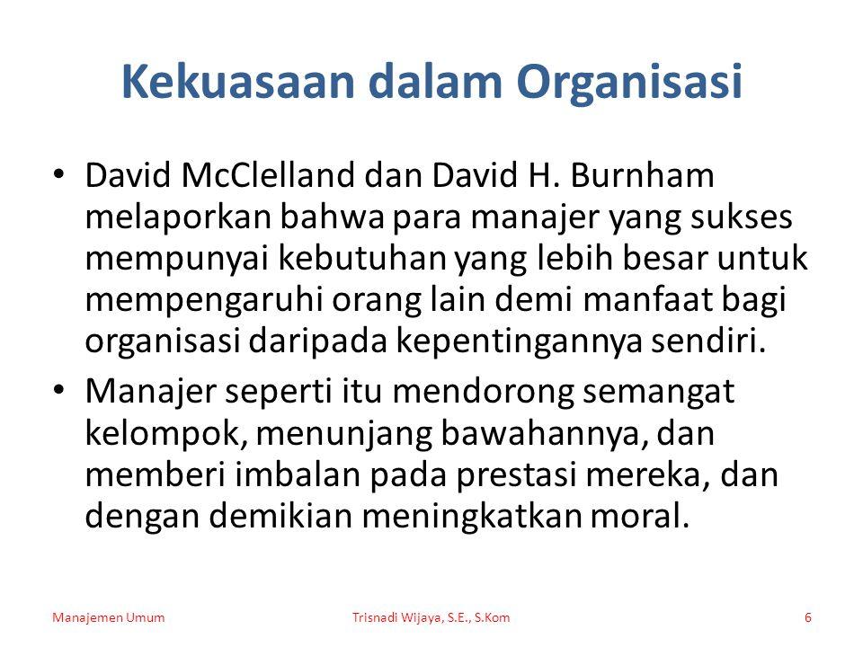 Kekuasaan dalam Organisasi