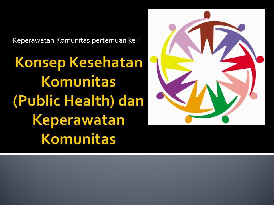 Konsep Kesehatan Komunitas (Public Health) dan Keperawatan Komunitas