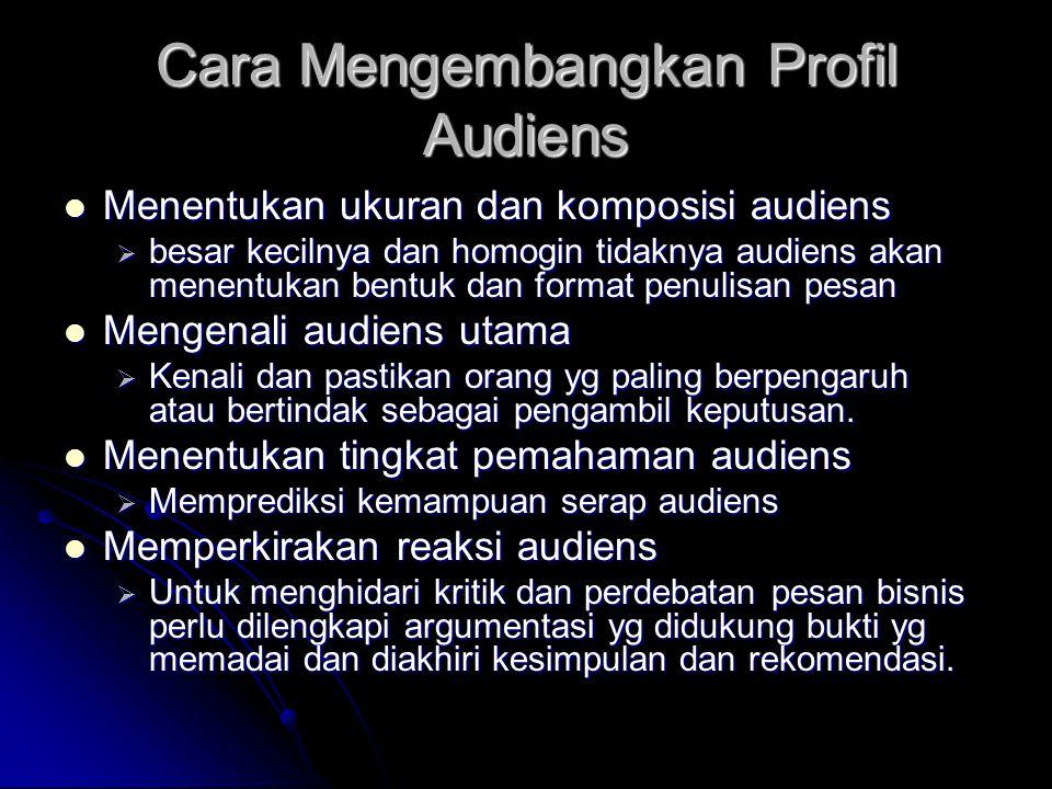 Cara Mengembangkan Profil Audiens