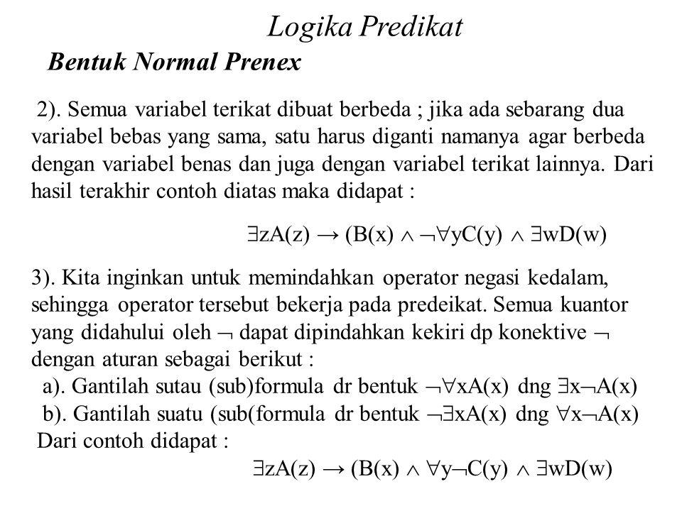 Logika Predikat Bentuk Normal Prenex