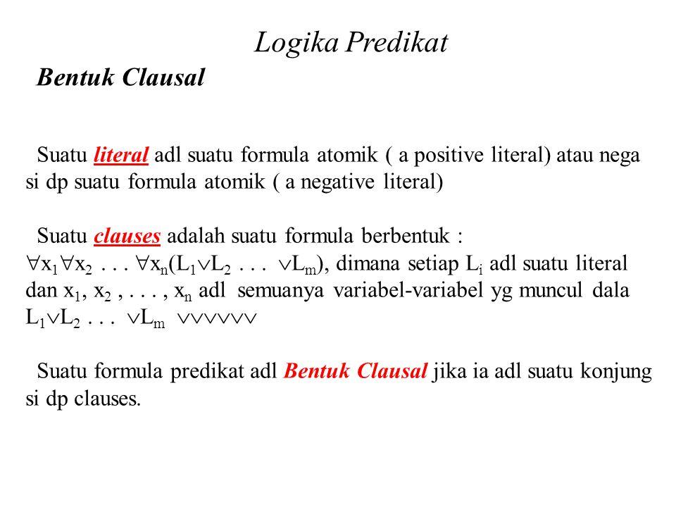 Logika Predikat Bentuk Clausal