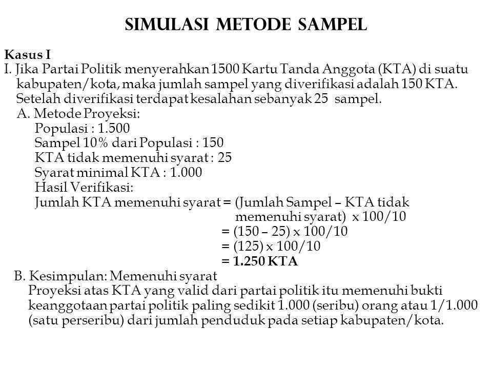 Simulasi METODE Sampel