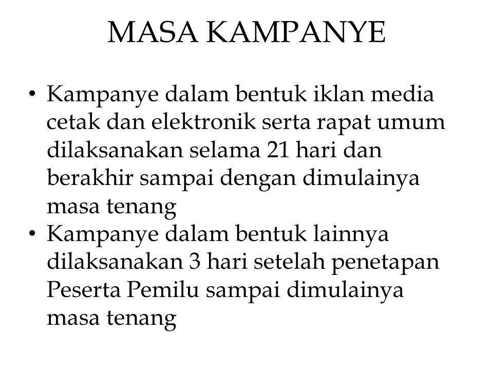 MASA KAMPANYE