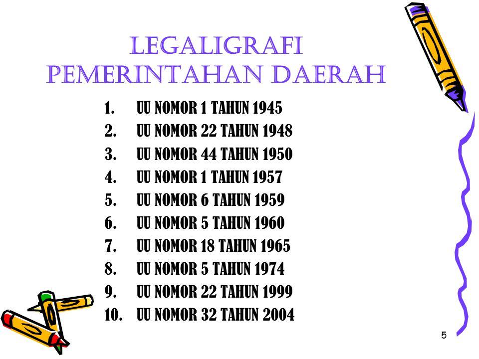 Legaligrafi pemerintahan daerah