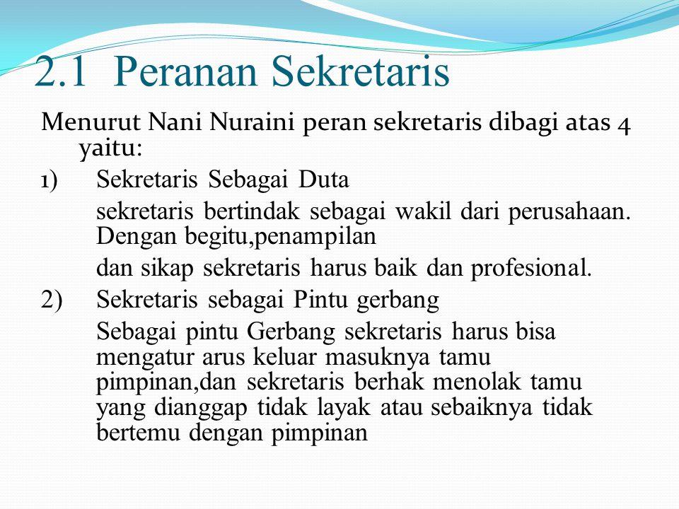 2.1 Peranan Sekretaris
