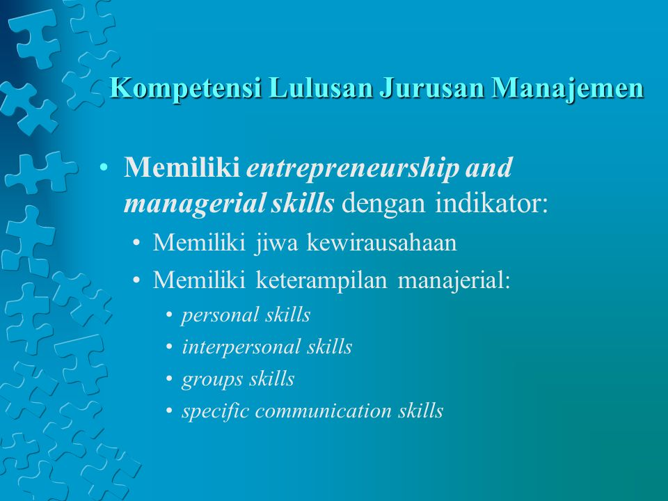 Kompetensi Lulusan Jurusan Manajemen