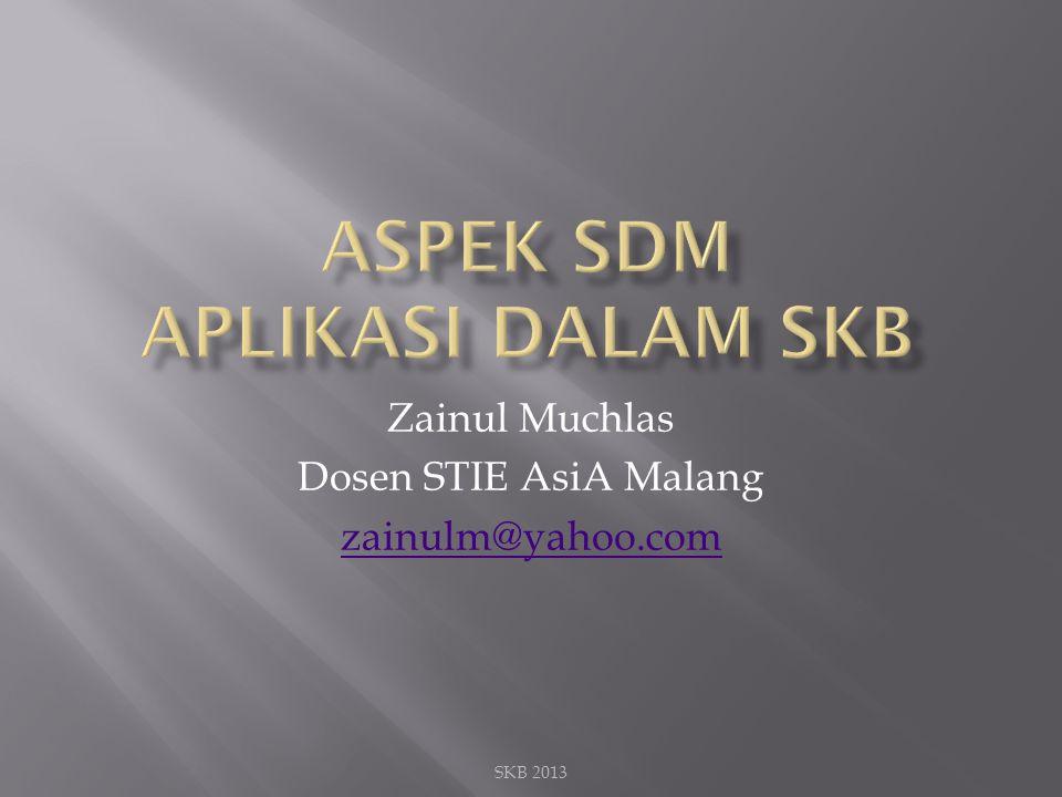 Aspek sdm aplikasi dalam skb