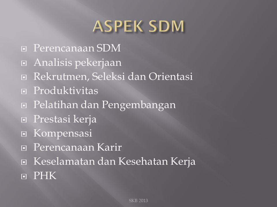 ASPEK SDM Perencanaan SDM Analisis pekerjaan