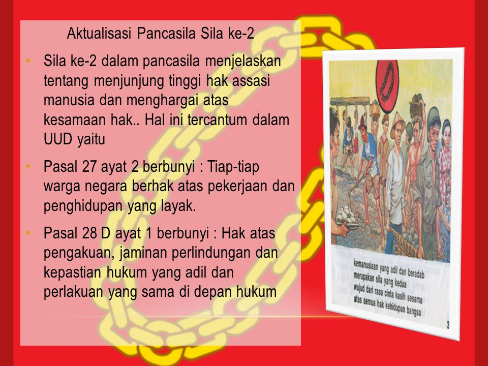 Aktualisasi Pancasila Sila ke-2