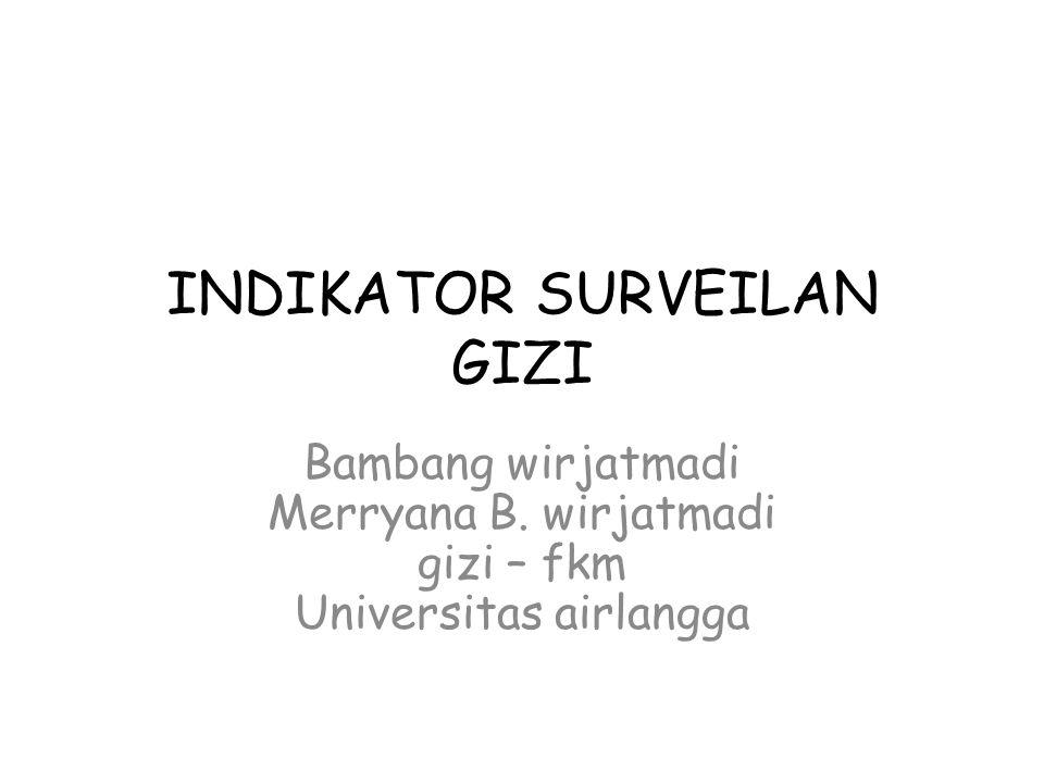 INDIKATOR SURVEILAN GIZI