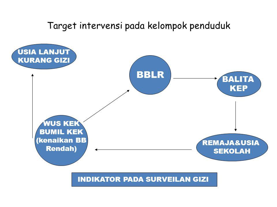 Target intervensi pada kelompok penduduk