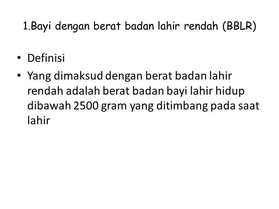 1.Bayi dengan berat badan lahir rendah (BBLR)