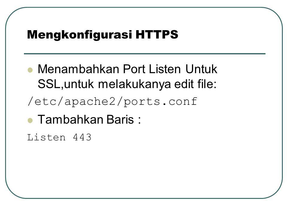Mengkonfigurasi HTTPS
