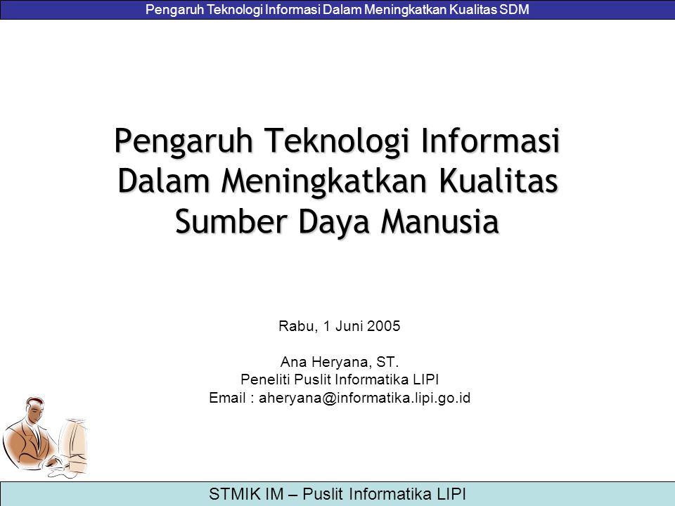 Peneliti Puslit Informatika LIPI