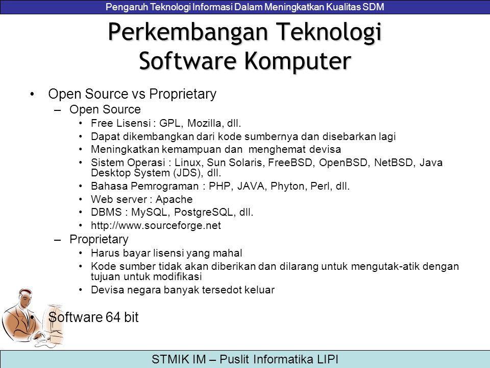 Perkembangan Teknologi Software Komputer