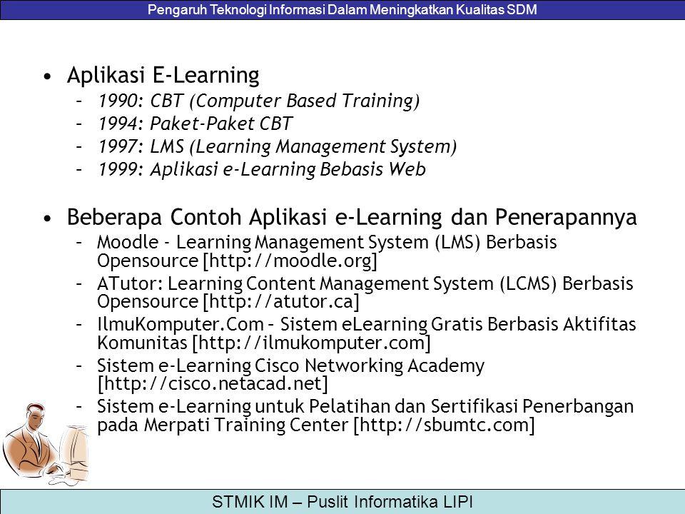 Beberapa Contoh Aplikasi e-Learning dan Penerapannya