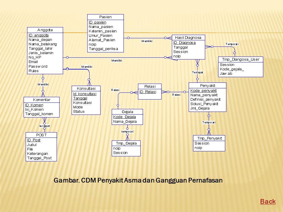 Gambar. CDM Penyakit Asma dan Gangguan Pernafasan