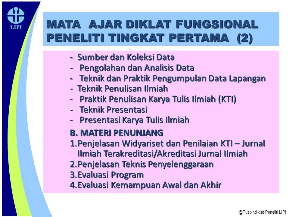 MATA AJAR DIKLAT FUNGSIONAL PENELITI TINGKAT PERTAMA (2)