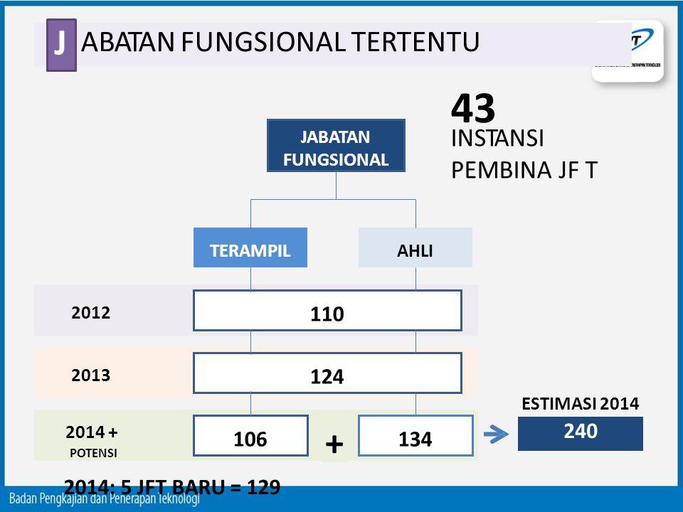43 J + ABATAN FUNGSIONAL TERTENTU INSTANSI PEMBINA JF T 110 124 240