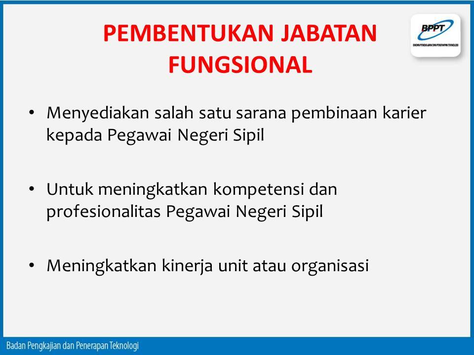 PEMBENTUKAN JABATAN FUNGSIONAL