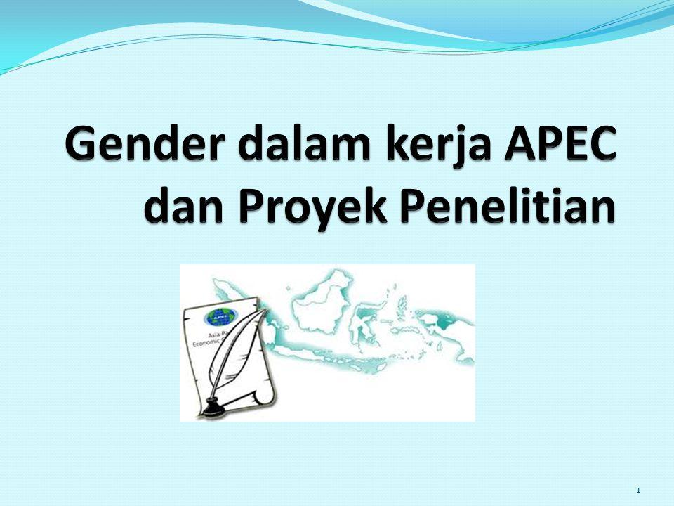 Gender dalam kerja APEC dan Proyek Penelitian