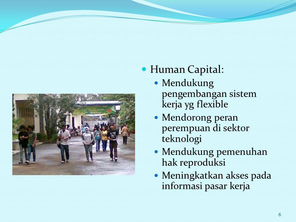Human Capital: Mendukung pengembangan sistem kerja yg flexible