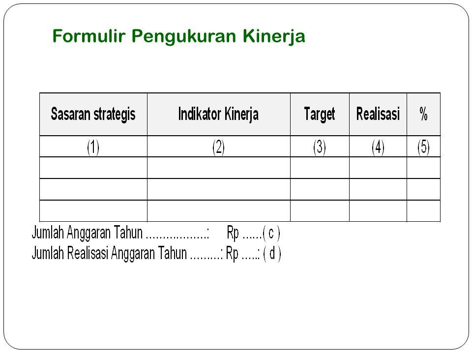 Formulir Pengukuran Kinerja