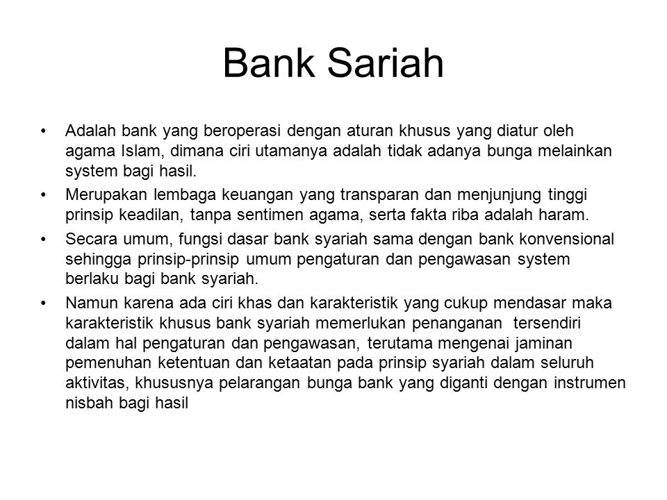 Bank Sariah